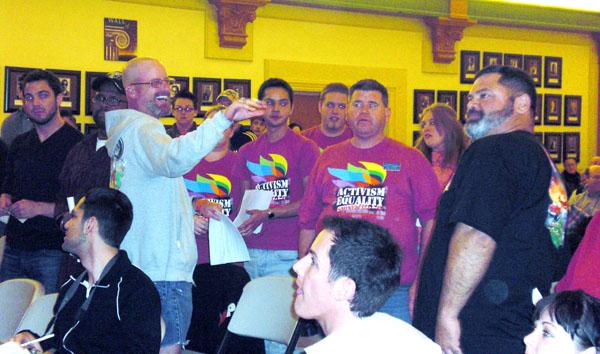 Pride volunteers on ...