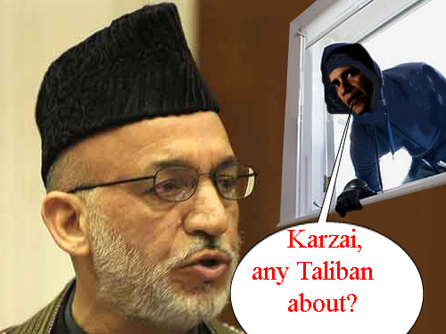 Any Taliban about?...
