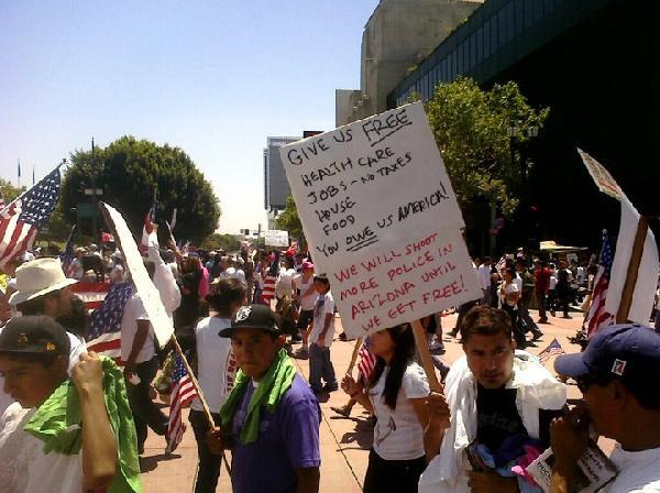 Fake May Day LA Phot...