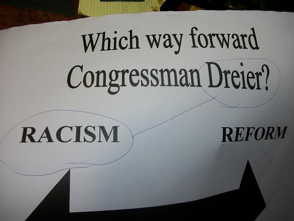 Sit-in at Rep. Dreie...