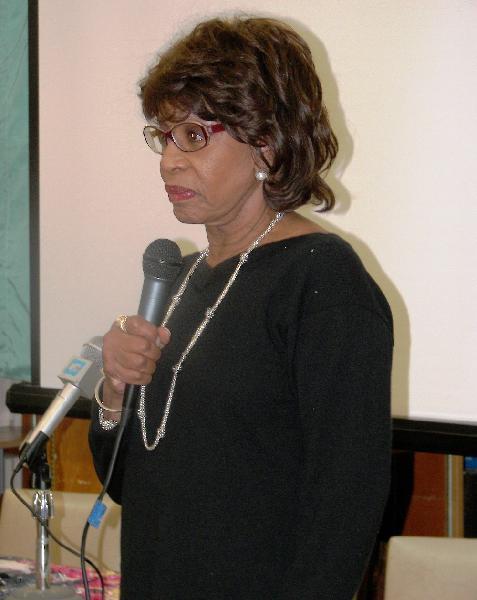 Congresswoman Maxine...