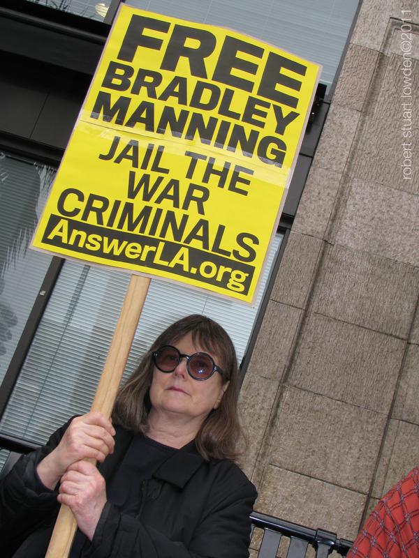 Protester Bradley Ma...