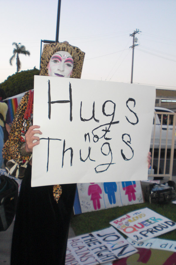 �Hugs, Not Thugs�...