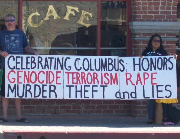 Columbus Day Protest...