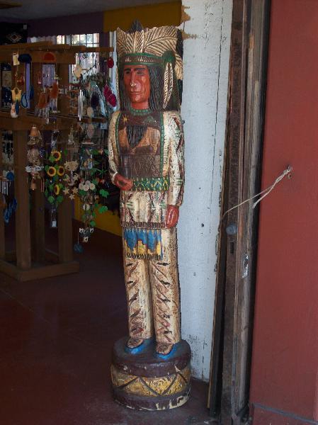 Wood statue inside o...