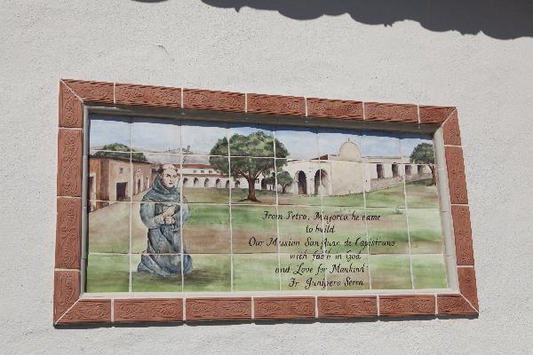 Tile art at entrance...