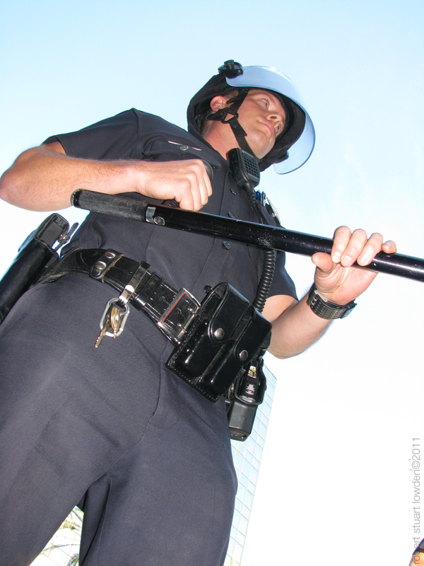 LAPD with Hurt Stick...