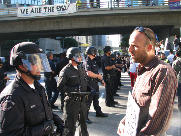 Occupy LA protester ...