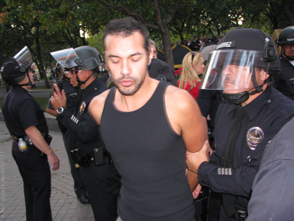 Arrest of Occupy LA ...