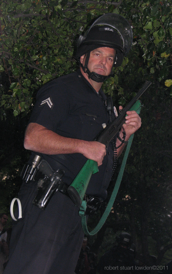 LAPD Riot Cop with R...