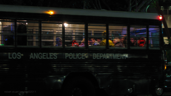 Jail Bus with Occupy...