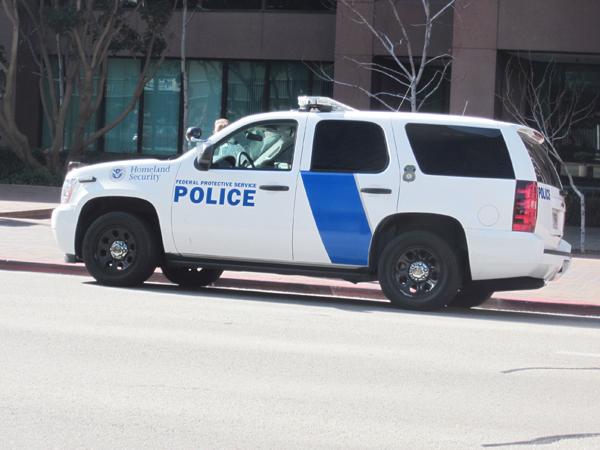 police van...