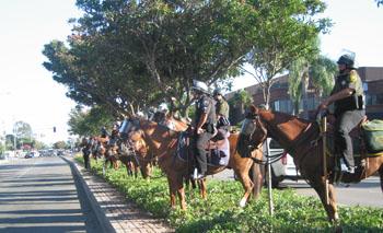 cops on horses...