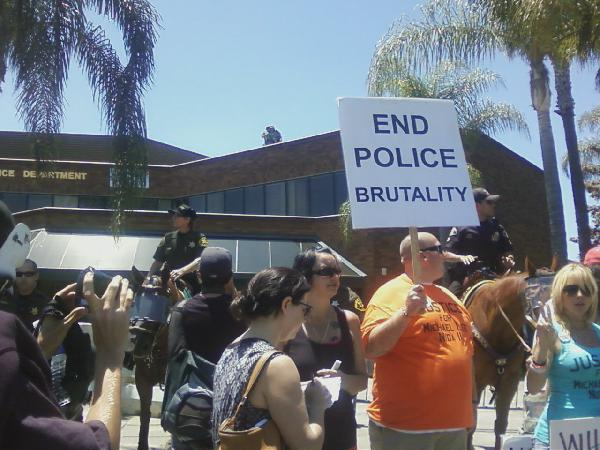 Anaheim Police Prote...