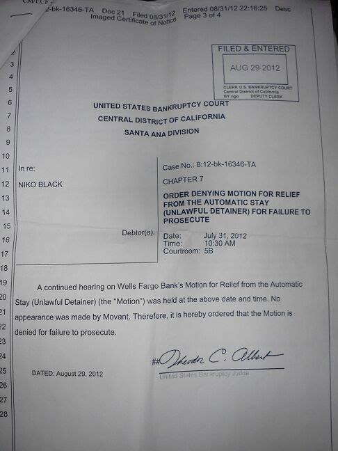 Federal court order ...