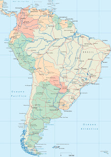 South America rivers...