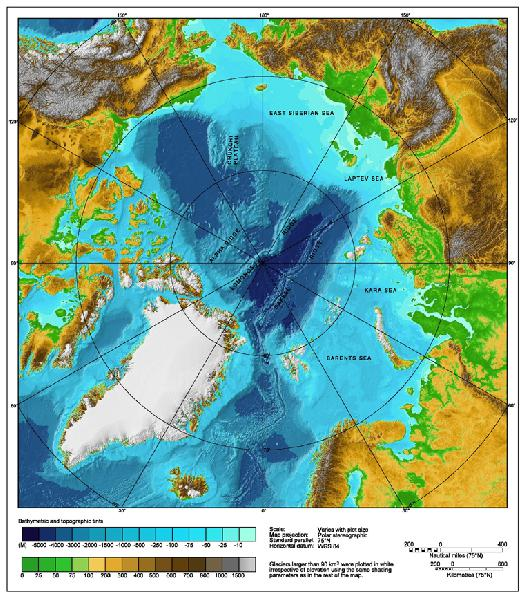 arctic ocean depth m...