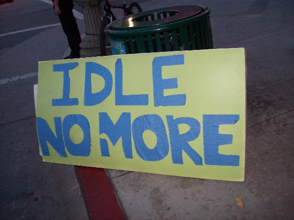 Idle No More in fron...