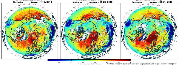 measured methane rel...