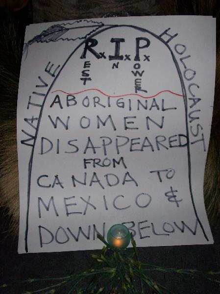Idle No More vigil a...