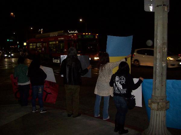 Demonstrators at CNN...