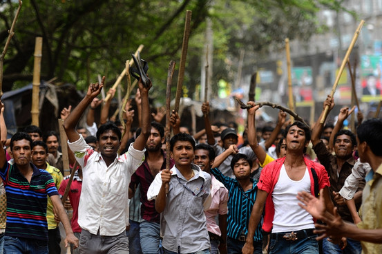 textile Workers Demo...