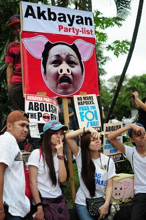 Philippines protest...