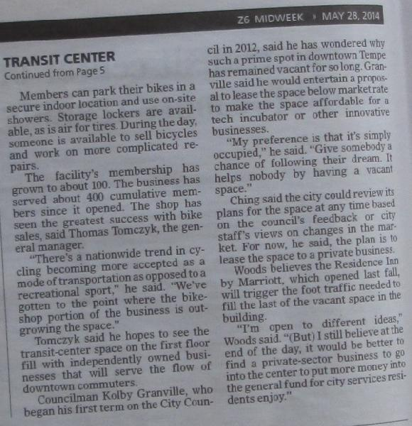 Tempe Transit Center...