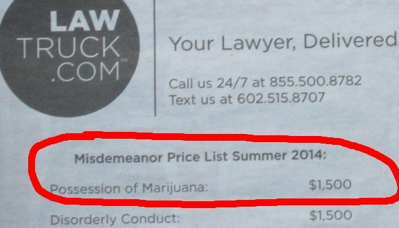 legal cost of hiring a lawyer for a marijuana arrest