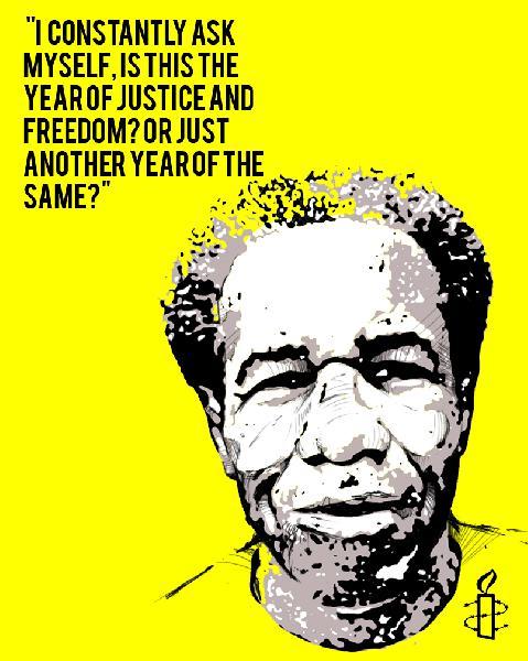 Amnesty poster...