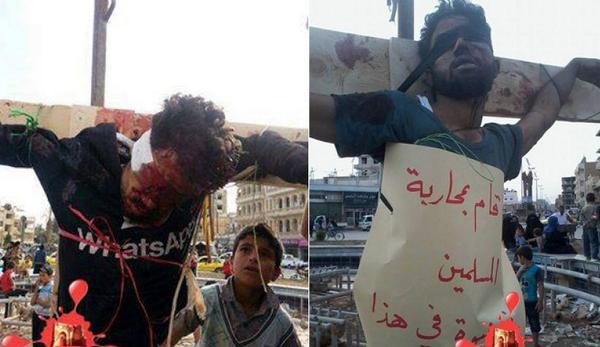 ISIS crucifying Chri...