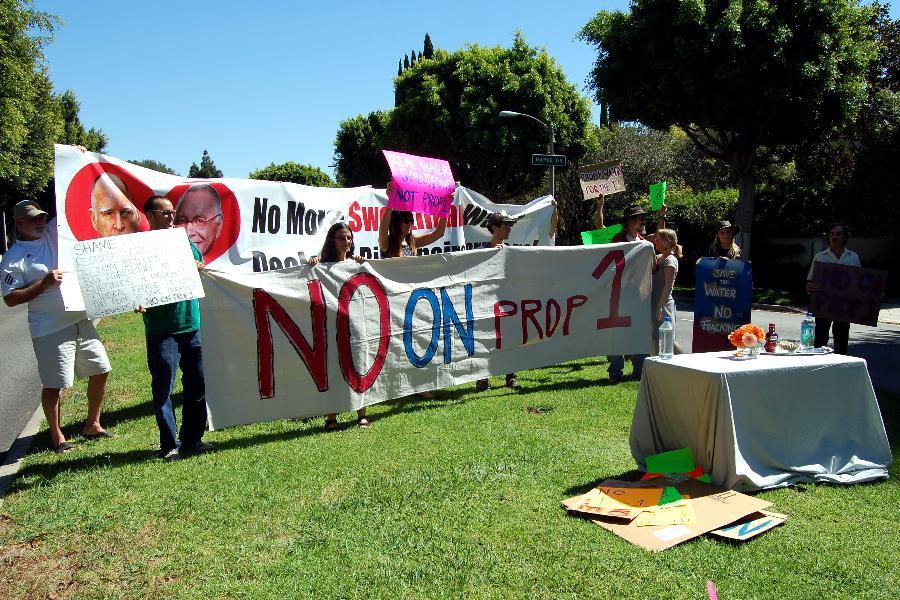 #NoOnProp1 protest a...