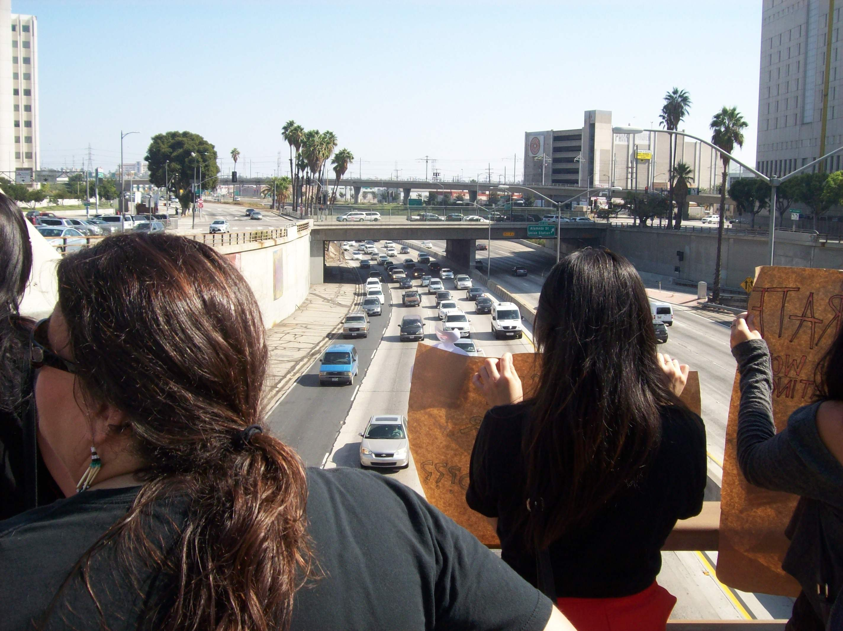Freeway overpass con...