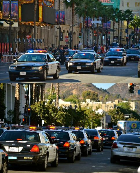 LAPD Cruisers Line H...
