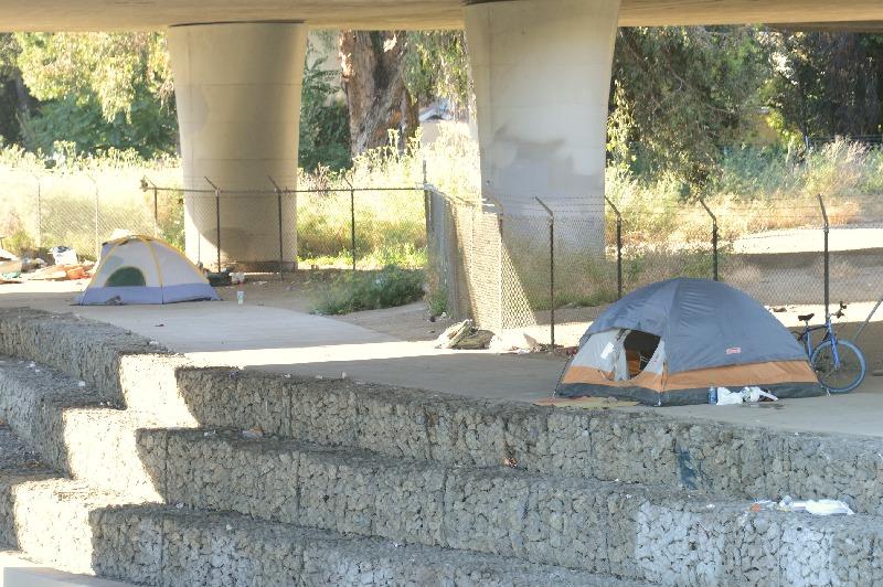 Homeless encampment...