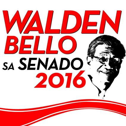 Walden Bello runs fo...