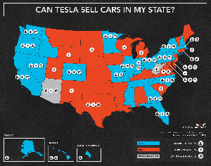 Petropawns In Certain States Ban Sale Of Tesla Cars