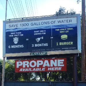 """Got Drought?"" public art project about the California Drought unveiled on billboards thr"