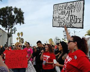 Hundreds March Long Beach to Compton to Protest Los Angeles Sheriff Murder of Noel Aguilar