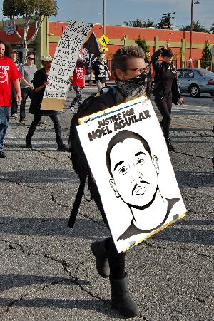 #JusticeForNoelAguilar Protest of Los Angeles Sheriff Murder of 23-year-old Noel Aguilar