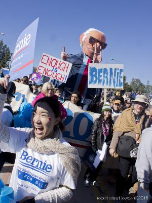 Bernie Sanders at The 2016 Rose Bowl Parade