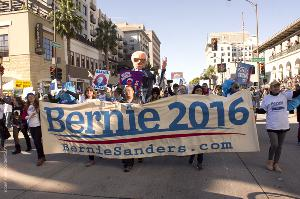 Bernie Sanders Supporters Rose Bowl Parade 2016