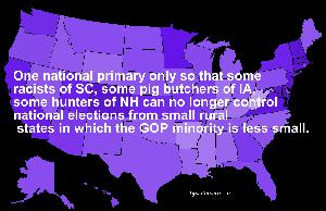 Time To End Domination of National Elections By Small Rural State Primaries