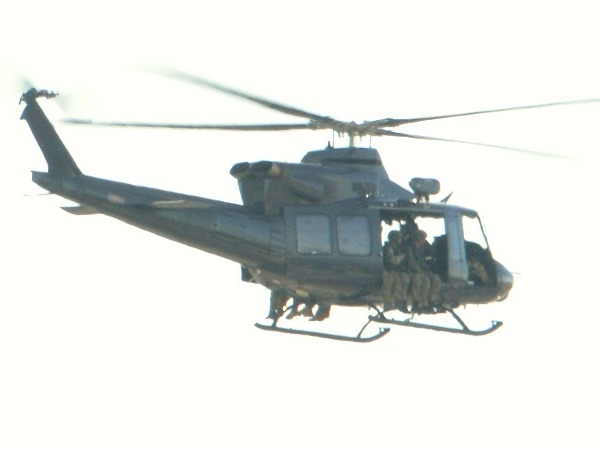 Military helicopter...