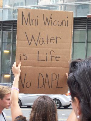 Speaking out against the North Dakota Access Pipeline