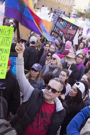Massive Women's March Los Angeles Tells President Donald Where To Go