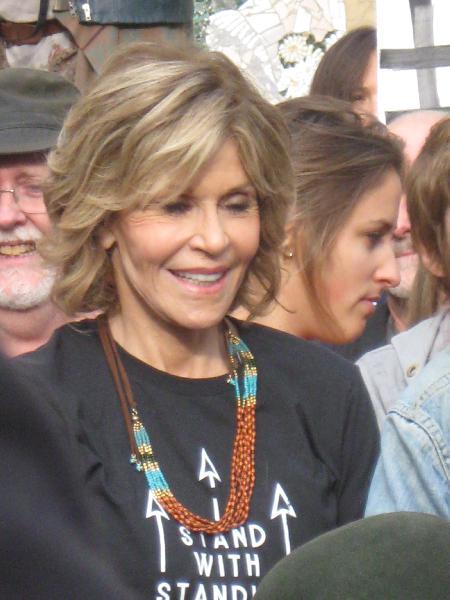 Fonda during rally...