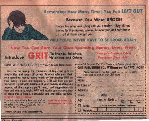 Fuck Loans! Be a Grit Newspaper Deliverer!