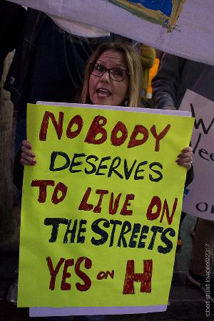 Prop. H Activists March on Hollywood to House and Help the Homeless