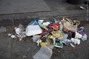 Garbage with Needle Caps / SanPedro Near 7th